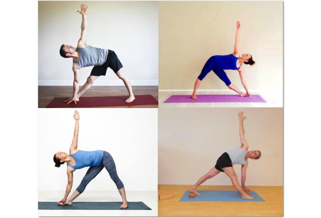 Triangle Pose Knees Yoga