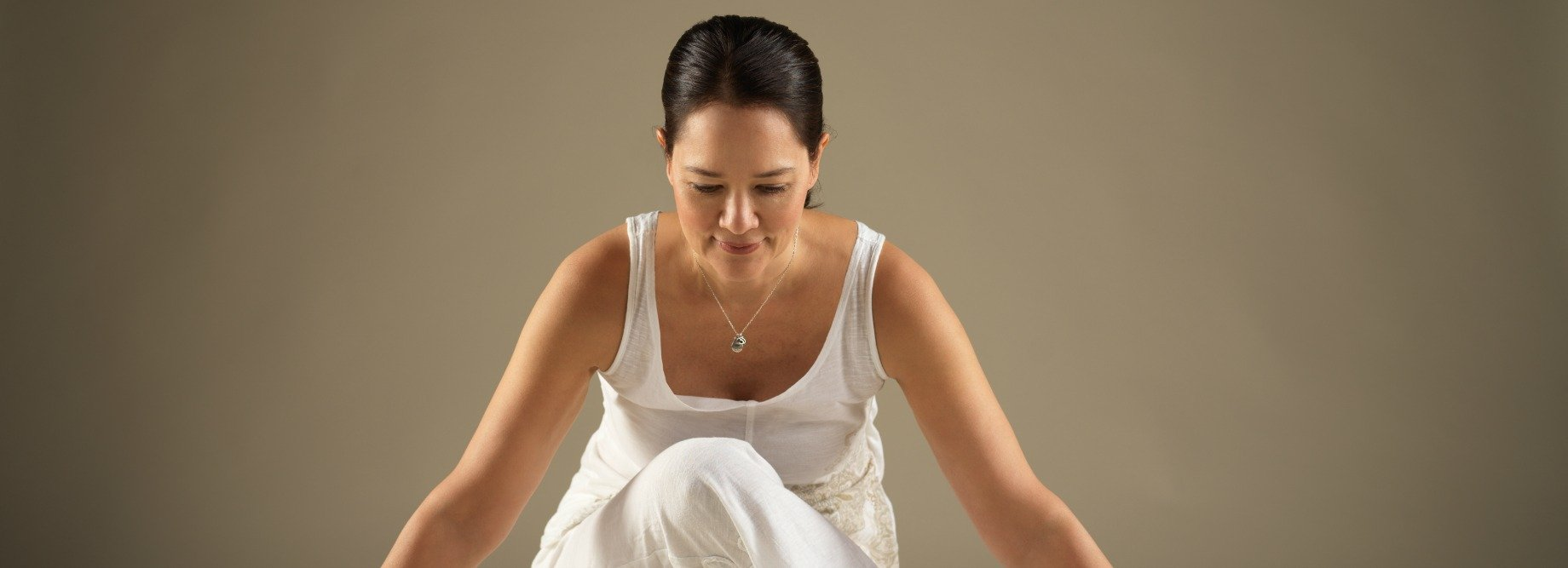 Sarah Lo in yin yoga pose