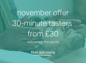 nov 2020 treatments promo - 30 min tasters from £30